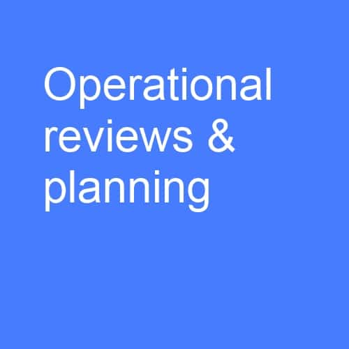 Operational reviews and planning: Develop and implement an end-to-end action plans, from marketing to engage with target audiences, through to all aspects of income generation and resource management