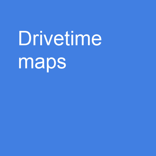 Drivetime maps and demographic analysis